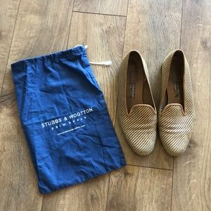 Stubbs & Wootton Natural Woven Loafers